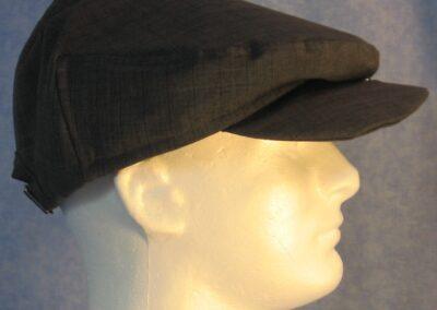 Flat Cap - Blue Stripe - male right