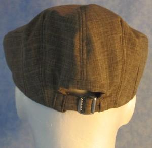 Flat Cap in Brown Stripe - male back