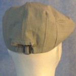 Flat Cap in Gray Gray Crosshatch - Male back