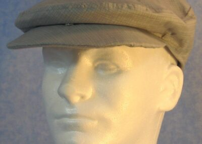 Flat Cap in Gray Gray Crosshatch - Male front