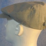 Flat Cap in Gray Gray Crosshatch - Male left