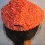 Flat Cap in Red White Loop Line - back
