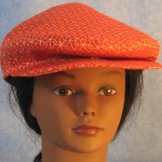 Flat Cap in Red White Loop Line - front