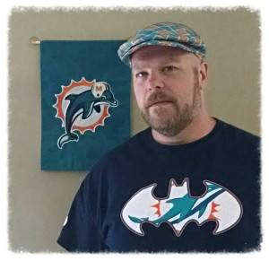 Flat Cap Turquoise Orange Plaid MP - Miami Dolphins background