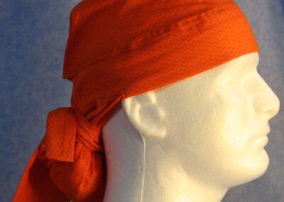 Hair Bag in Orange with Orange Vs - side