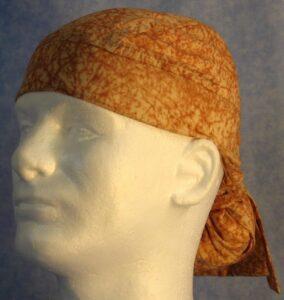 Hair Bag in Yellow Brown Marbling - side