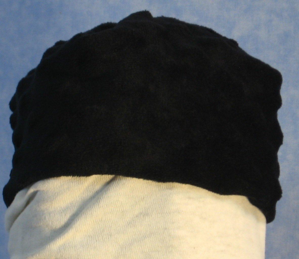 Beanie Cap in Black Dimples-Baby Newborn