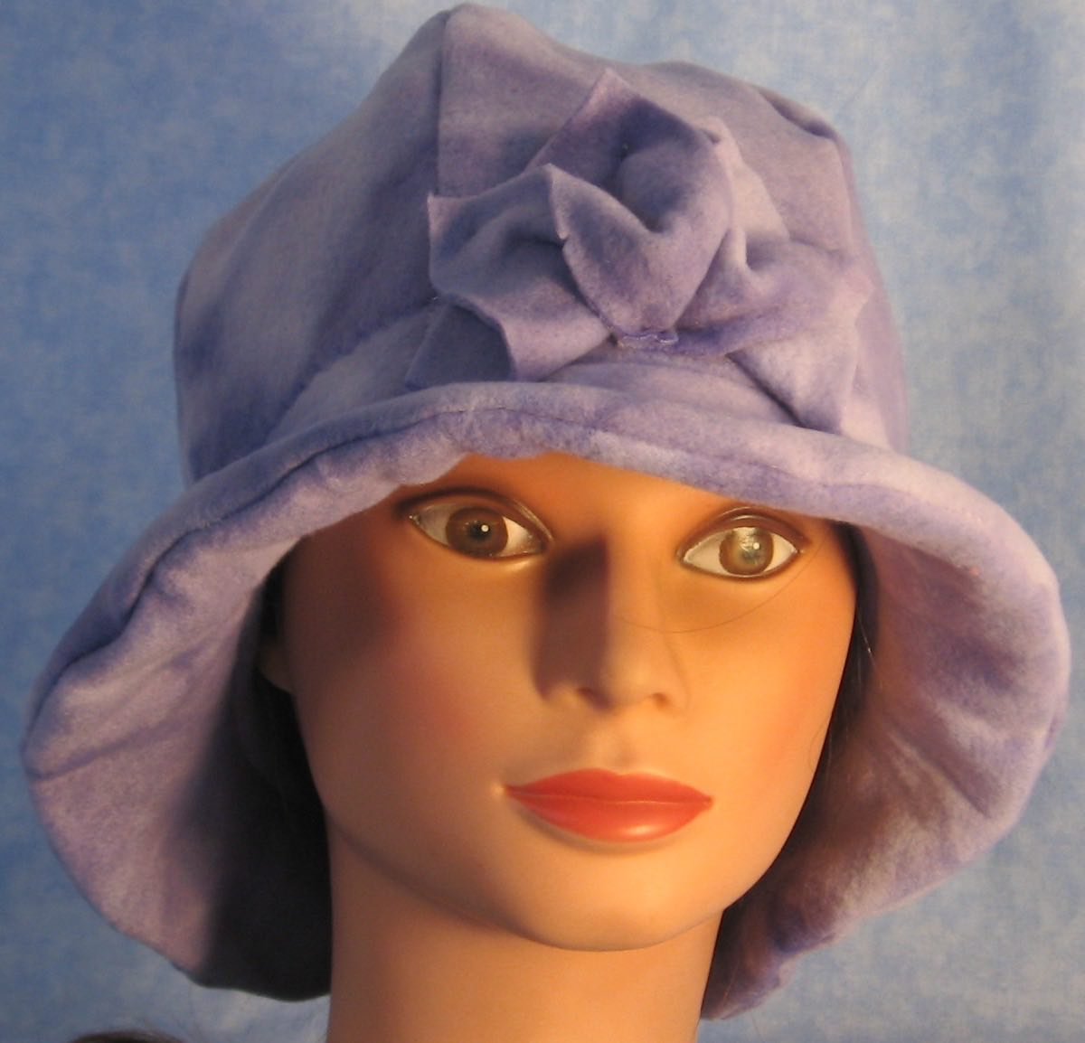 Cloche Hat in Lavender Splotch-Adult M
