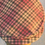 Flat Cap in Pink Gray Flannel - closeup