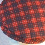Flat Cap in Red and Blue Plaid - closeup