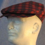 Flat Cap in Red and Blue Plaid - right male