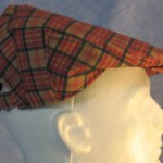 Flat Cap in Red Gold Plaid - right male