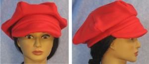 Newsboy Hat in Red