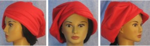 Newsboy Hat in Red Worn Like Beret