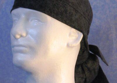 Hair Bag in Black Marble - front