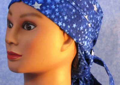 Hair Stocking in Blue with Silver Stars - left