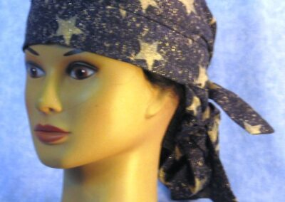 Hair Stocking in Navy with Gold Stars - front