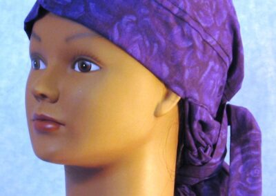 Hair Stocking in Purple Rose - left front