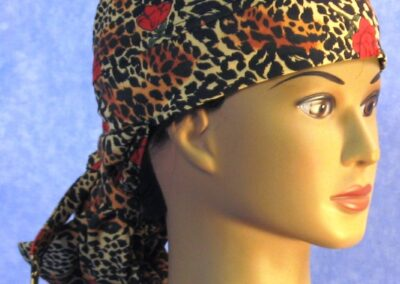 Hair Stocking in Rose Cheetah - right front