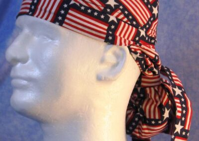 Hair Bag in Square Flags - left