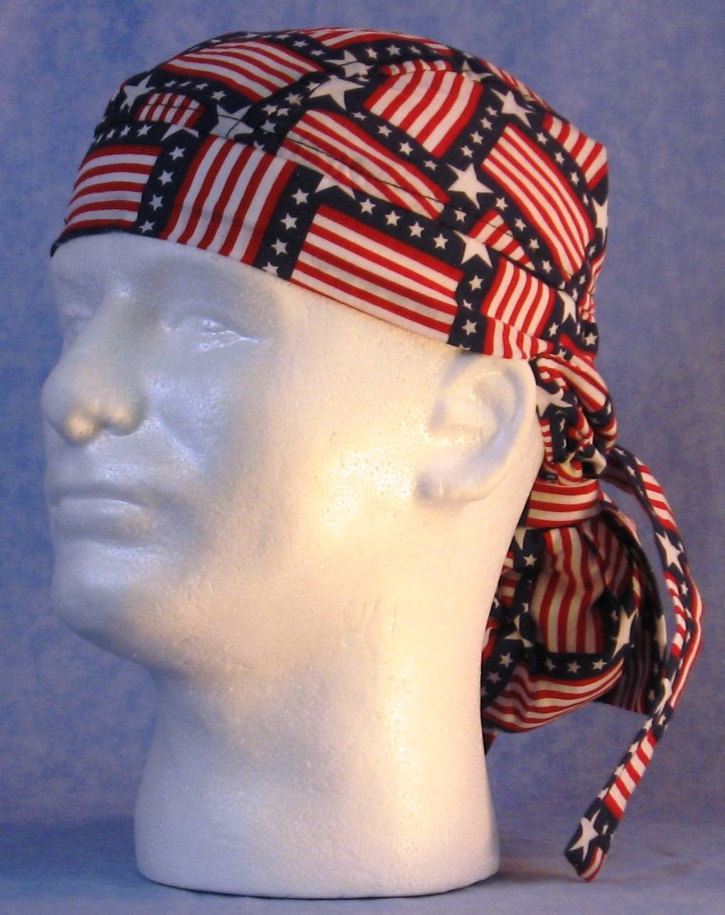 Hair Bag Do Rag in Square Flags - Adult 1XL-3XL