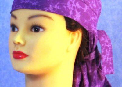 Hair Bag in Purple Purple Splotch - left front
