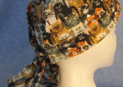 Hair Stocking in Orange Black Tan Cats Big
