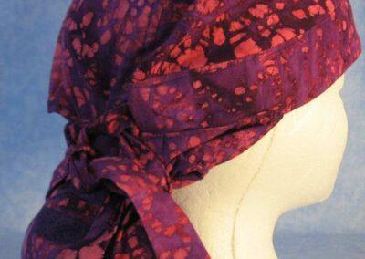 Hair Stocking in Pink Purple Batik