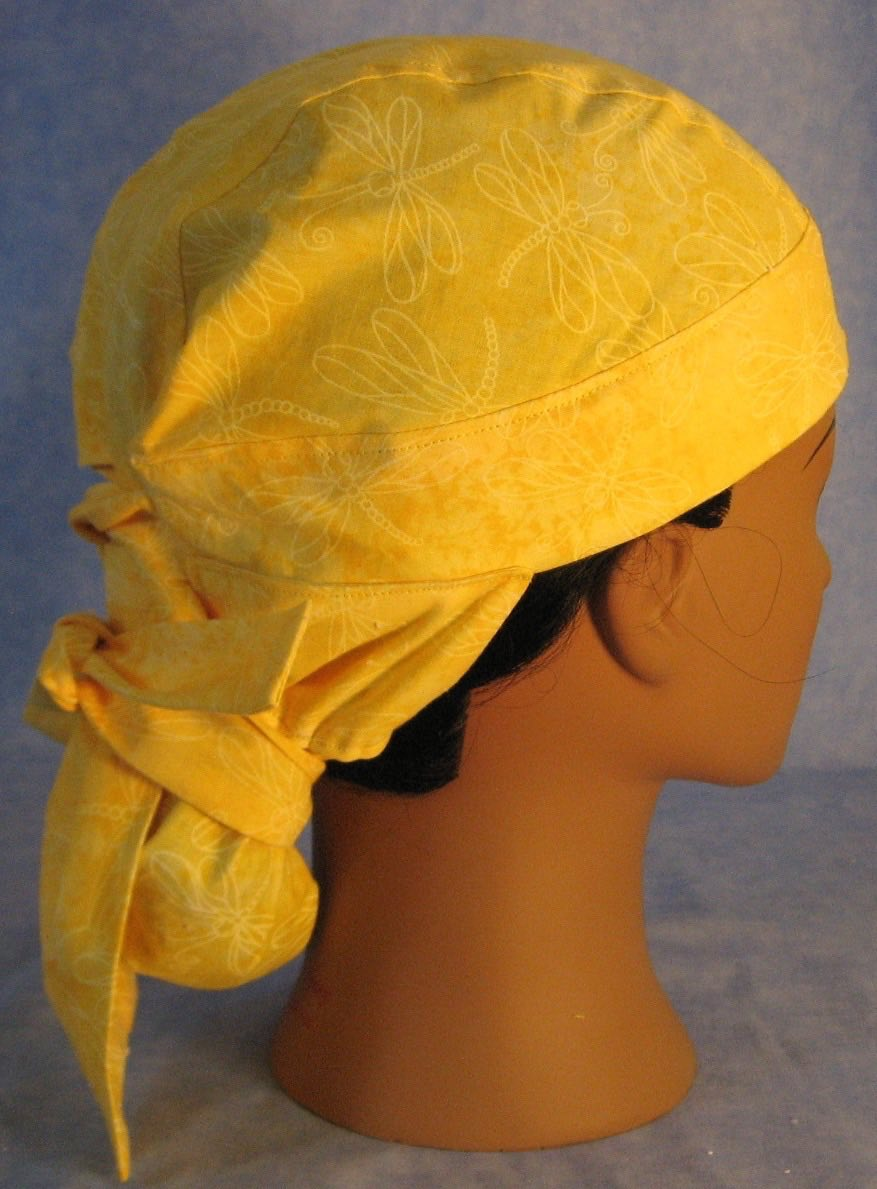 Hair Stocking in Yellow Dragonflies