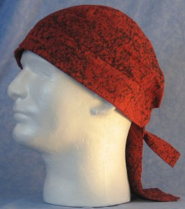 Do Rag in Red Black Marble - front left
