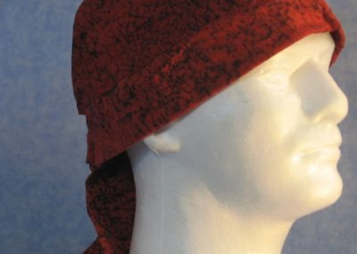 Do Rag in Red Black Marble - front right