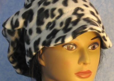 Newsboy in Black White Gray Leopard - right front