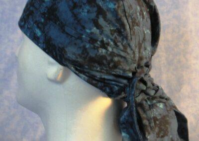 Hair Bag in Blue Black Splotch - left back
