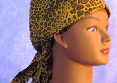 Hair Bag in Brown Yellow Cheetah - right front