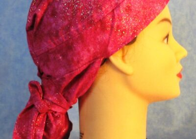 Hair Stocking in Pink Splotch with Glitter - right
