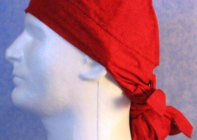 Hair Bag in Red Brush Stroke - left