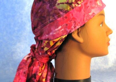 Hair Stocking in Rose Violet Yellow Batik - right