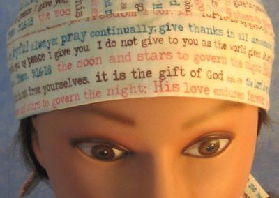Do Rag in Bible Verses in Brown Teal Rose - front top