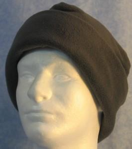 Long Hat in Dark Gray - rolled