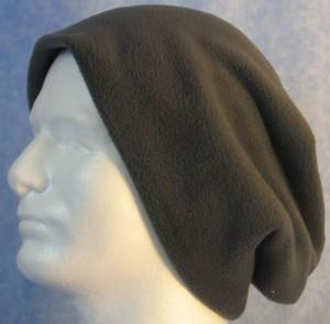 Long Hat in Dark Gray - unrolled
