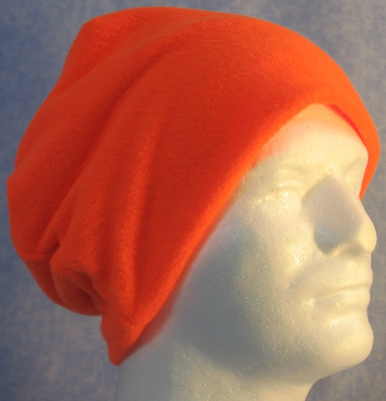 Long Hat in Fluorescent Orange-Adult S