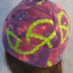 Long Hat in Purple Peace - rolled back 1