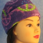 Long Hat in Purple Peace - rolled front 1