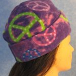 Long Hat in Purple Peace - rolled right 1