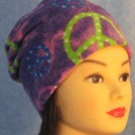 Long Hat in Purple Peace - unrolled front 1