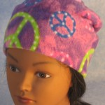 Long Hat in Purple Peace - unrolled front top 2