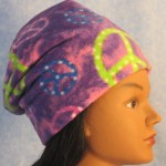 Long Hat in Purple Peace - unrolled right 2