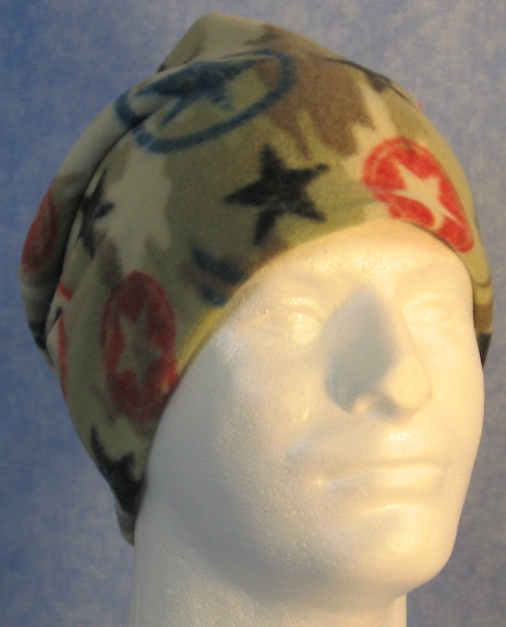 Long Hat in Star Camo-Youth S-M