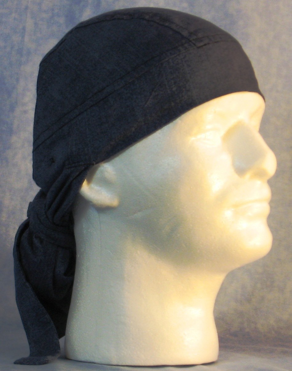 Hair Bag Do Rag in Blue Jeans Looking - Adult 1XL-3XL