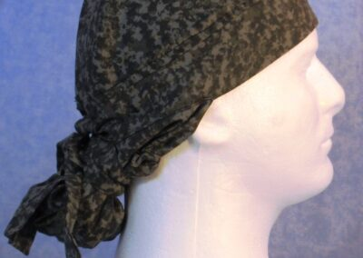 Hair Bag in Gray Speckled Camo - right